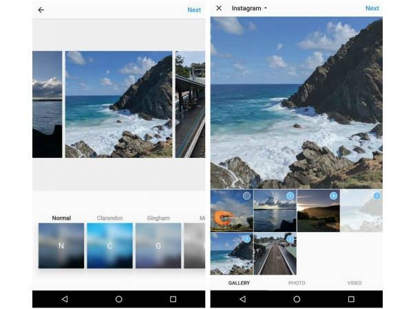 ઇન્સ્ટાગ્રામ એન્ડ્રોઇડ એપ પર કદાચ મલ્ટી ફોટો આલબમ ફીચર લાવી શકે છે.