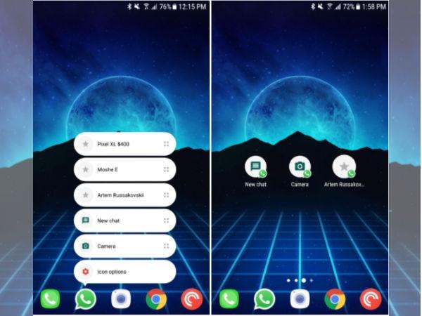 Android માટે તાજેતરના WhatsApp બેટા પર એપ્સ શૉર્ટકટ્સ મળે છે