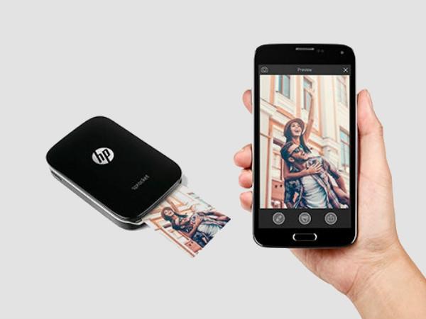 ભારતમાં લોન્ચ થયેલા સ્માર્ટફોન માટે એચપી સ્પ્રેકેટ પોર્ટેબલ પ્રિન્ટર