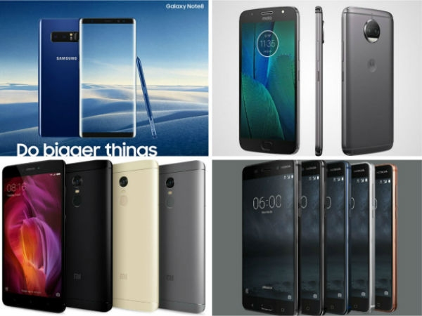 ટોપ 10 ટ્રેન્ડિંગ સ્માર્ટફોન: નોકિયા 6, ગેલેક્સી નોટ 8 અને બીજા ઘણા