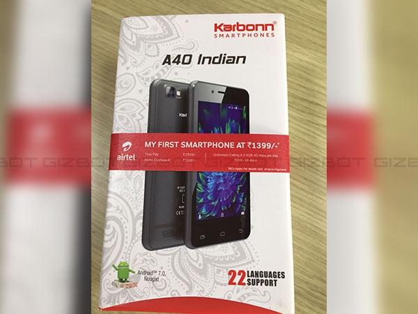 ભારતી એરટેલે કાર્બન સાથે મળી ને 4G સ્માર્ટફોન લોન્ચ કર્યો રૂ. 1399
