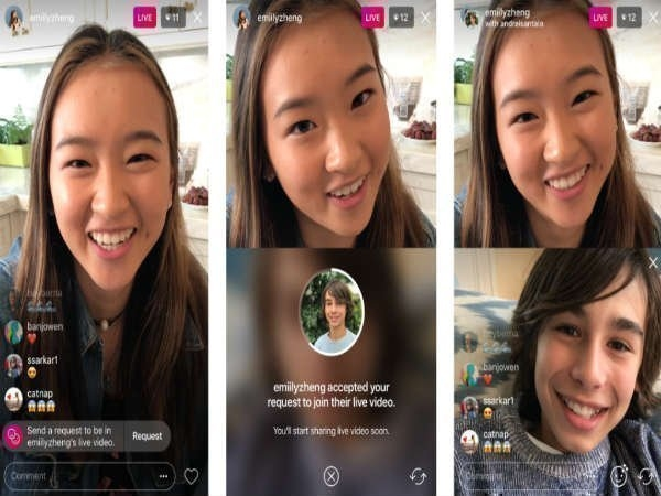 Instagram વપરાશકર્તાઓ ને ચાલુ livestream જોડાવા દે છે