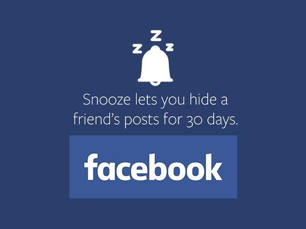 કાંટાળા જનક વ્યક્તિ ને ફેસબુક પર 30 દિવસ માટે સ્નુઝ કઈ રીતે કરવો