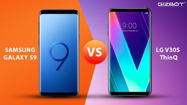 સેમસંગ ગેલેક્સી S9 vs એલજી V30S ThinQ