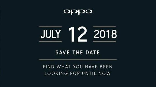 ઓપ્પો ફાઈન્ડ એક્સ 12 જુલાઈ 2018 ના રોજ ઇન્ડિયા માં લોન્ચ થશે