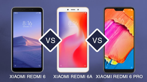 Xiaomi Redmi 6A vs Redmi 6 vs Redmi 6 પ્રો