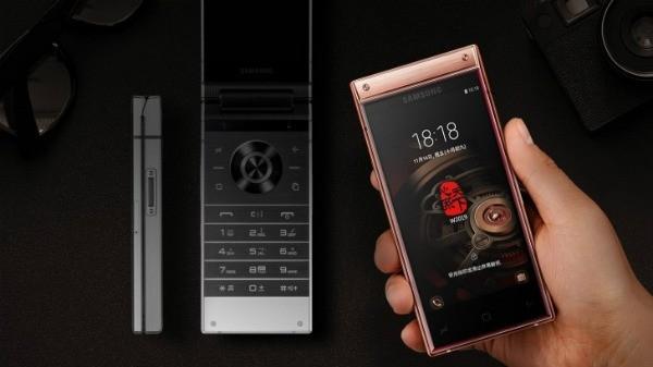 સેમસંગે W2019 ડ્યુઅલ ડિસ્પ્લે અને સાઈડ ફિંગપ્રિન્ટ રીડર સાથે ફ્લિપફોન ની જાહેરાત કરી
