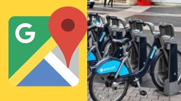 Google maps ની અંદર બાઇક શેરિંગ સ્ટેશન માટે સપોર્ટ આપવામાં આવ્યો