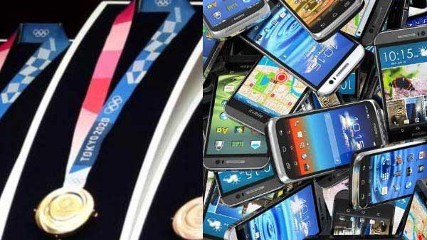 2020 ના ઓલિમ્પિક મેડલ બનાવવા માટે કઈ રીતે 62.1 લાખ મોબાઇલ ફોનનો ઉપયોગ