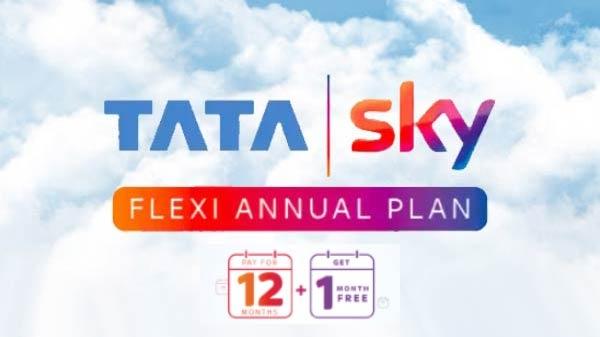 Tata sky દ્વારા તેમનો નવો ફ્લેક્સી એન્યુઅલ પ્લાન એક ફ્રી મહિના સાથે