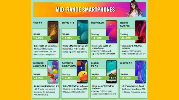 એમેઝોન ફેબ ફોન ફેસ્ટ બેસ્ટ સેલિંગ મીડ રેન્જ સ્માર્ટફોન પર ઓફર્સ